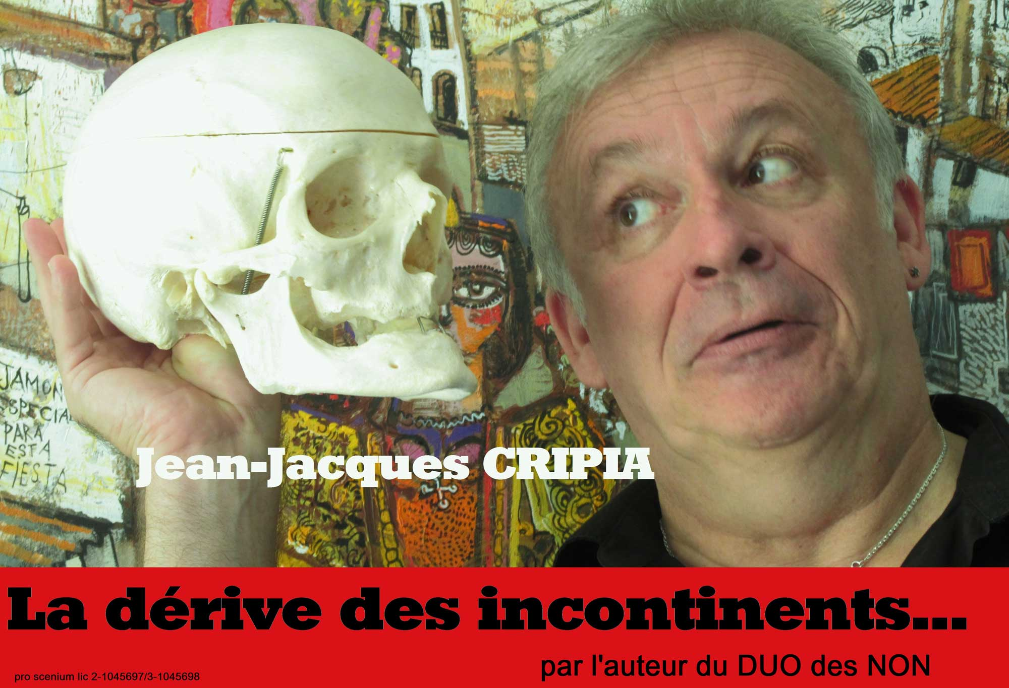 Affiche Spectacle la dérive des incontinents